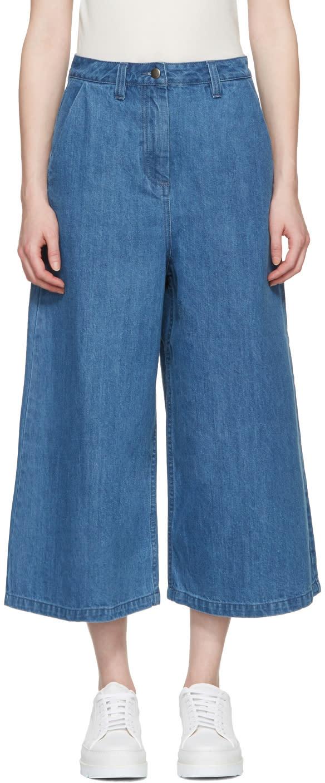 Edit Blue Denim Culottes