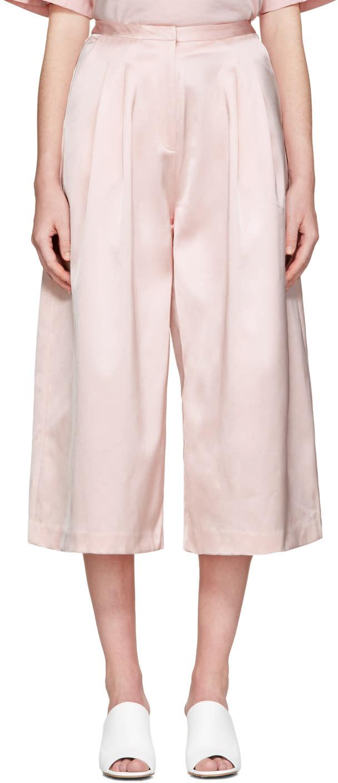 Edit Pink Long Satin Culottes