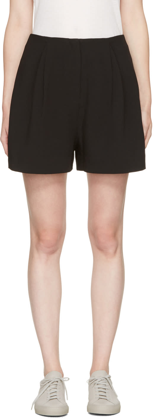 Edit Black Full Shorts