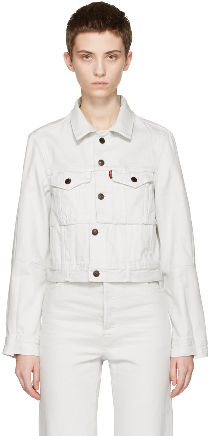 Vetements White Levis Edition Reworked Denim Jacket