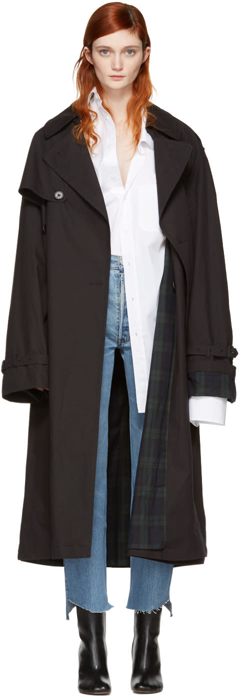 Vetements Black Mackintosh Edition Oversized Trench Coat