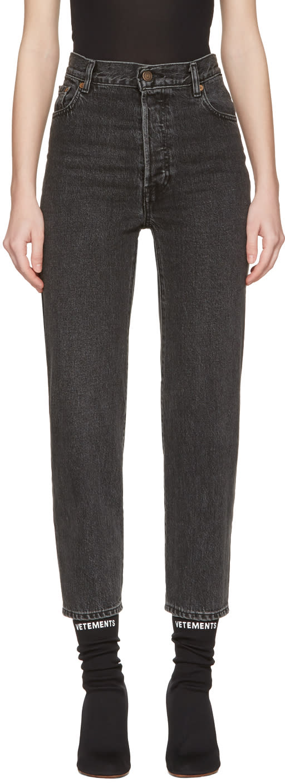 Vetements Black Levis Edition Classic High Waist Jeans