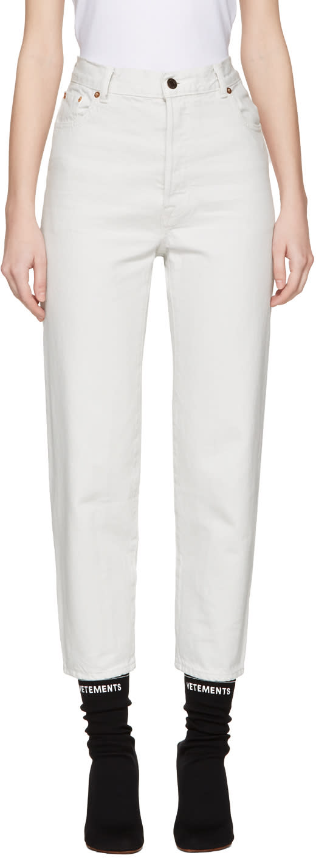 Vetements White Levis Edition Classic High Waist Jeans