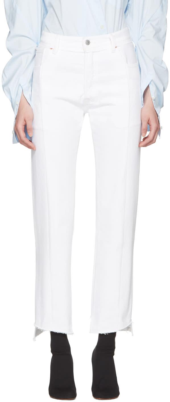 Vetements White Levis Edition Classic Reworked Denim Jeans