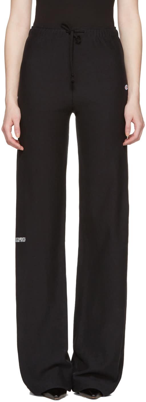 Vetements Black Champion Edition Loose Lounge Pants