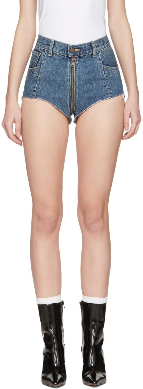 Vetements Blue Levis Edition Denim Hot Pants