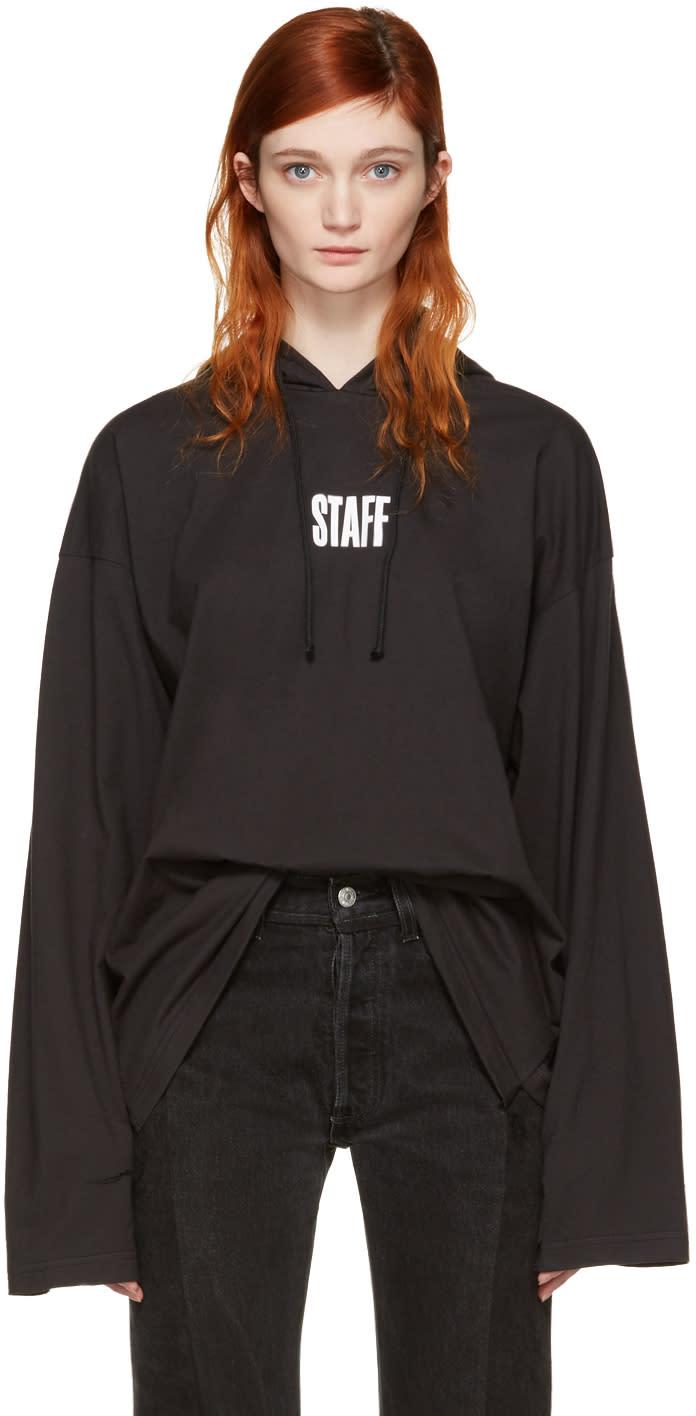 Vetements Black Hanes Edition staff  Hoodie