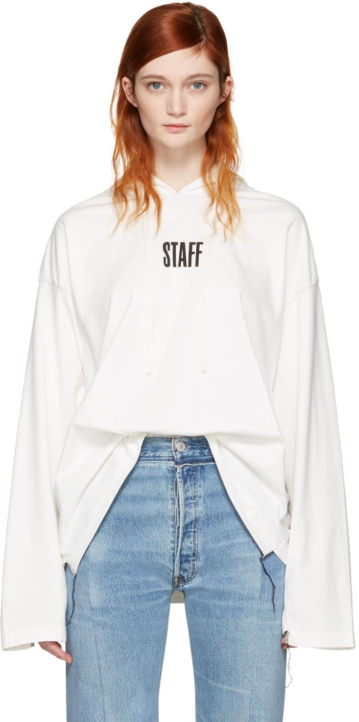 Vetements White Hanes Edition staff  Hoodie