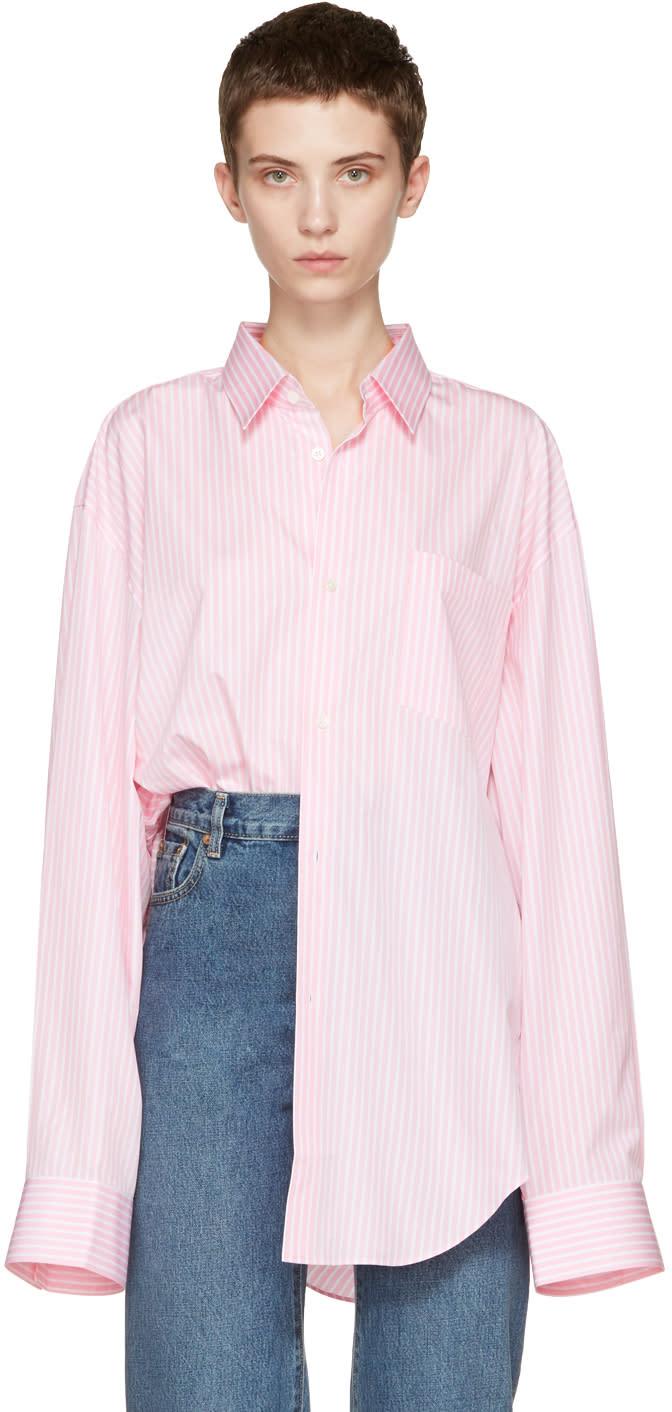 Vetements Pink Comme Des Garcons Edition Oversized 80s Shirt