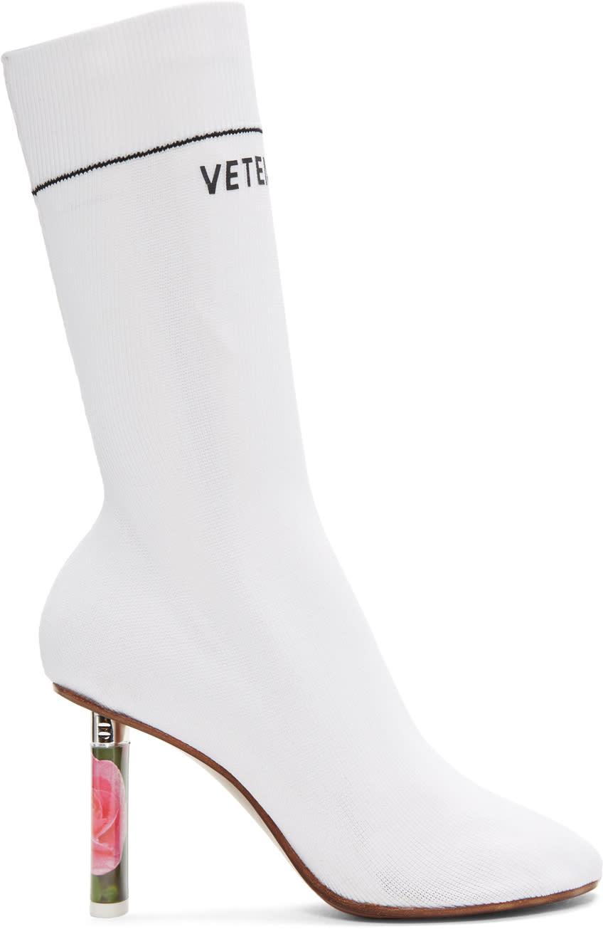 Vetements White Rose Lighter Sock Boots