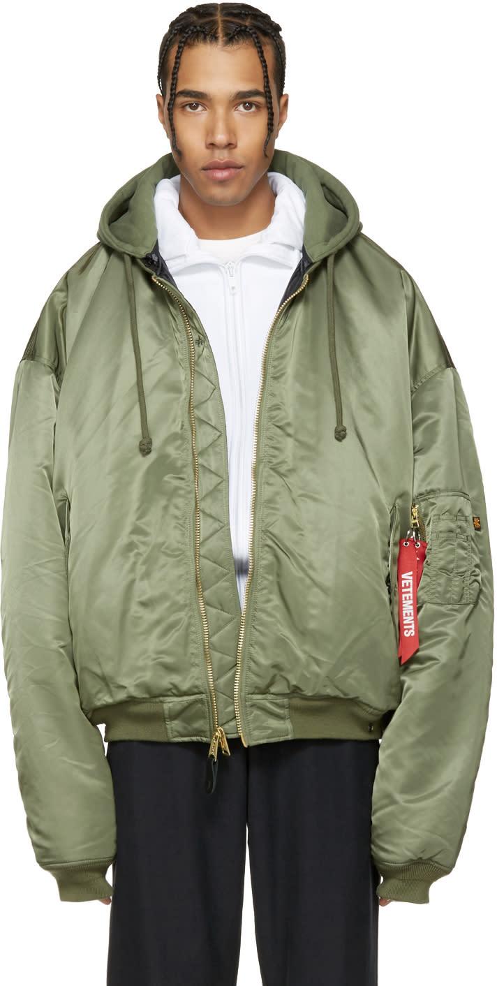 Vetements Reversible Green Alpha Industries Edition Bomber Jacket