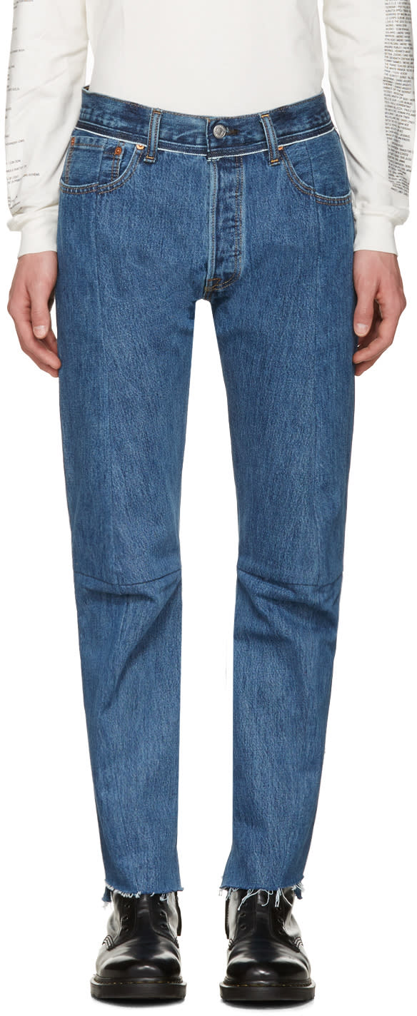 Vetements Blue Levis Edition Classic Reworked Denim Jeans
