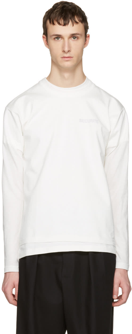 Vetements White Hanes Edition Fitted Double securite T-shirt