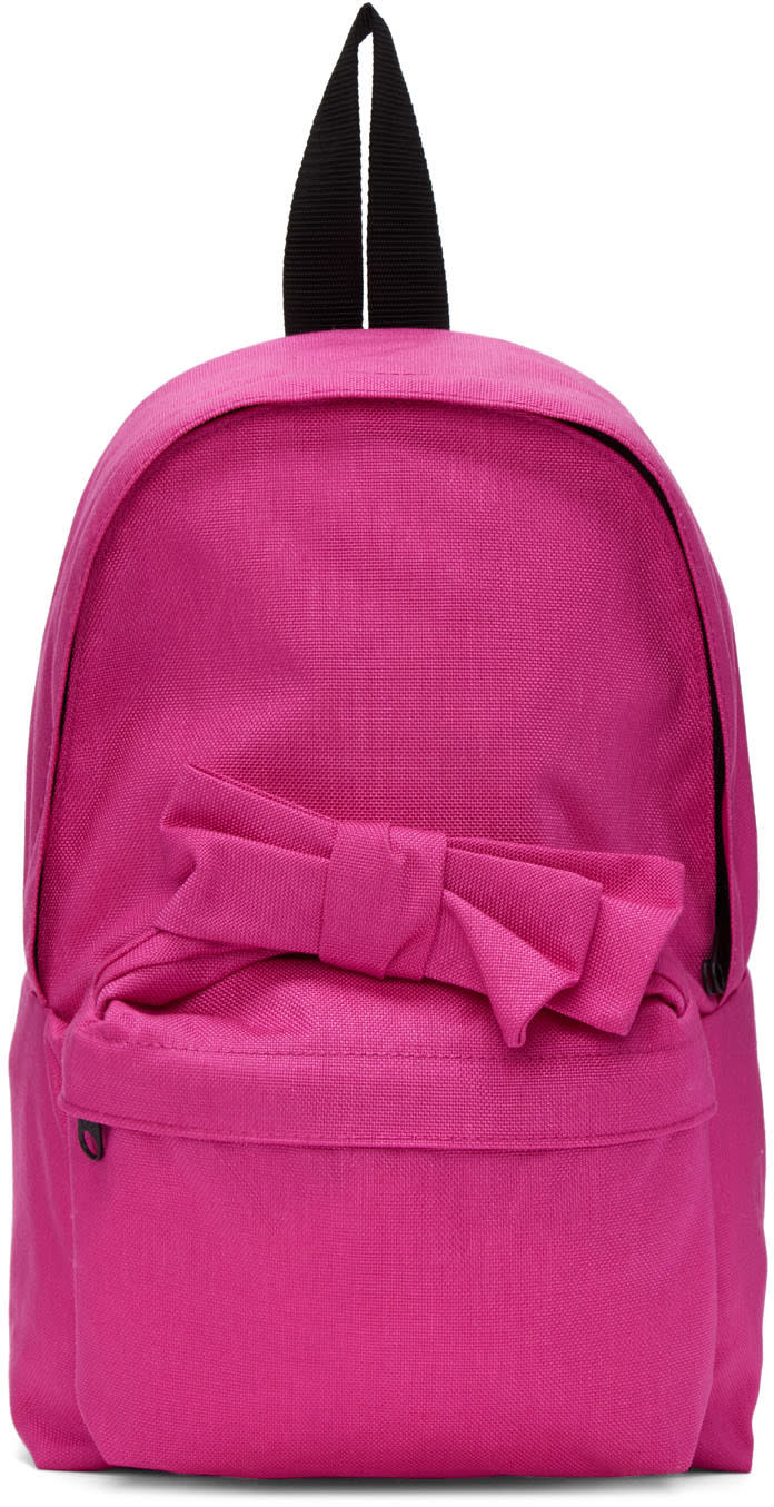 Comme Des Garcons Girl Pink Nylon Bow Backpack
