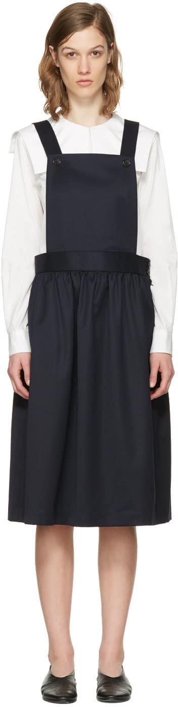 Comme Des Garcons Girl Navy Apron Dress