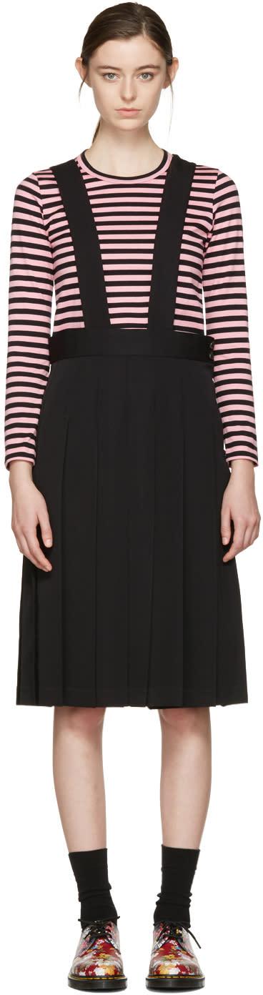 Comme Des Garçons Girl Black Wool Suspender Dress