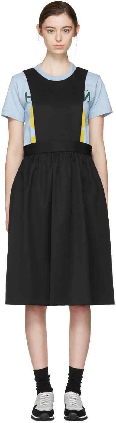 Image of Comme Des Garçons Girl Black Apron Dress