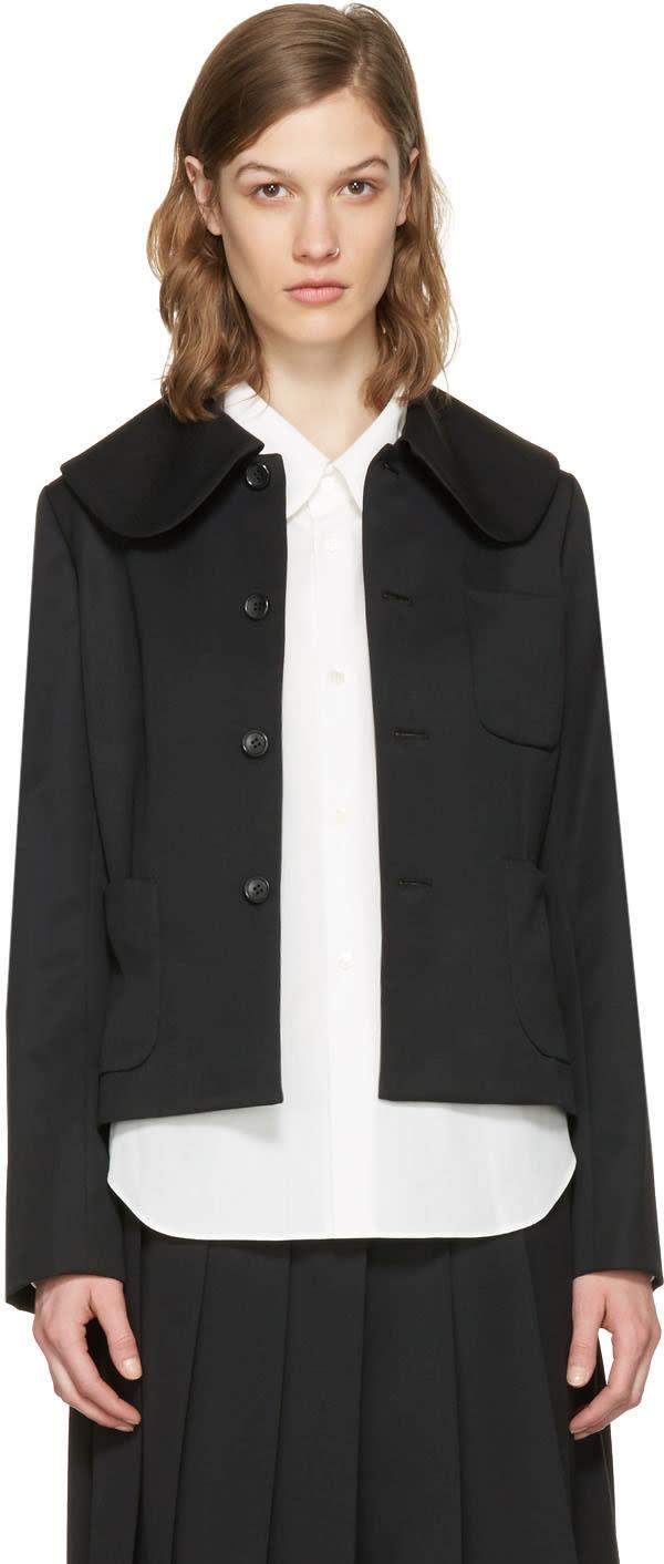Image of Comme Des Garçons Girl Black Large Collar Jacket