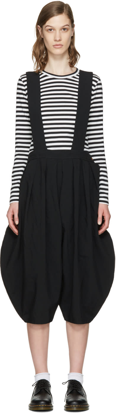 Comme Des Garçons Girl Black Suspender Trousers
