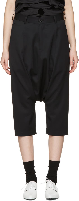 Image of Comme Des Garçons Girl Black Cropped Drop Trousers