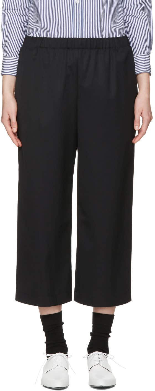 Image of Comme Des Garçons Girl Black Drawstring Trousers