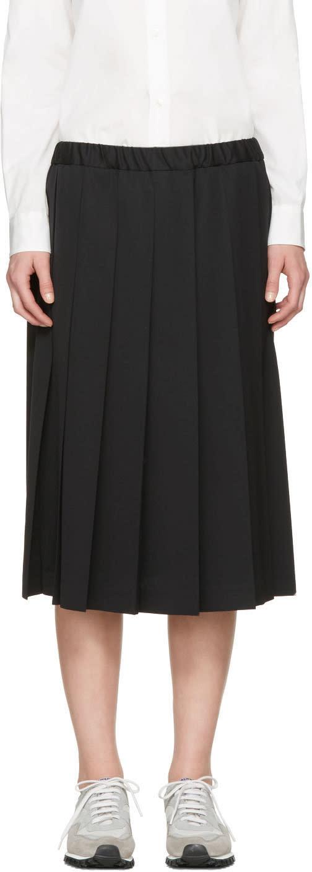 Comme Des Garcons Girl Black Pleated Skirt