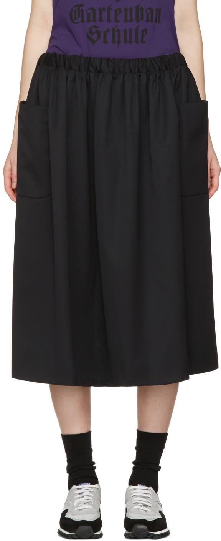 Comme Des Garcons Girl Black Wool Pocket Skirt