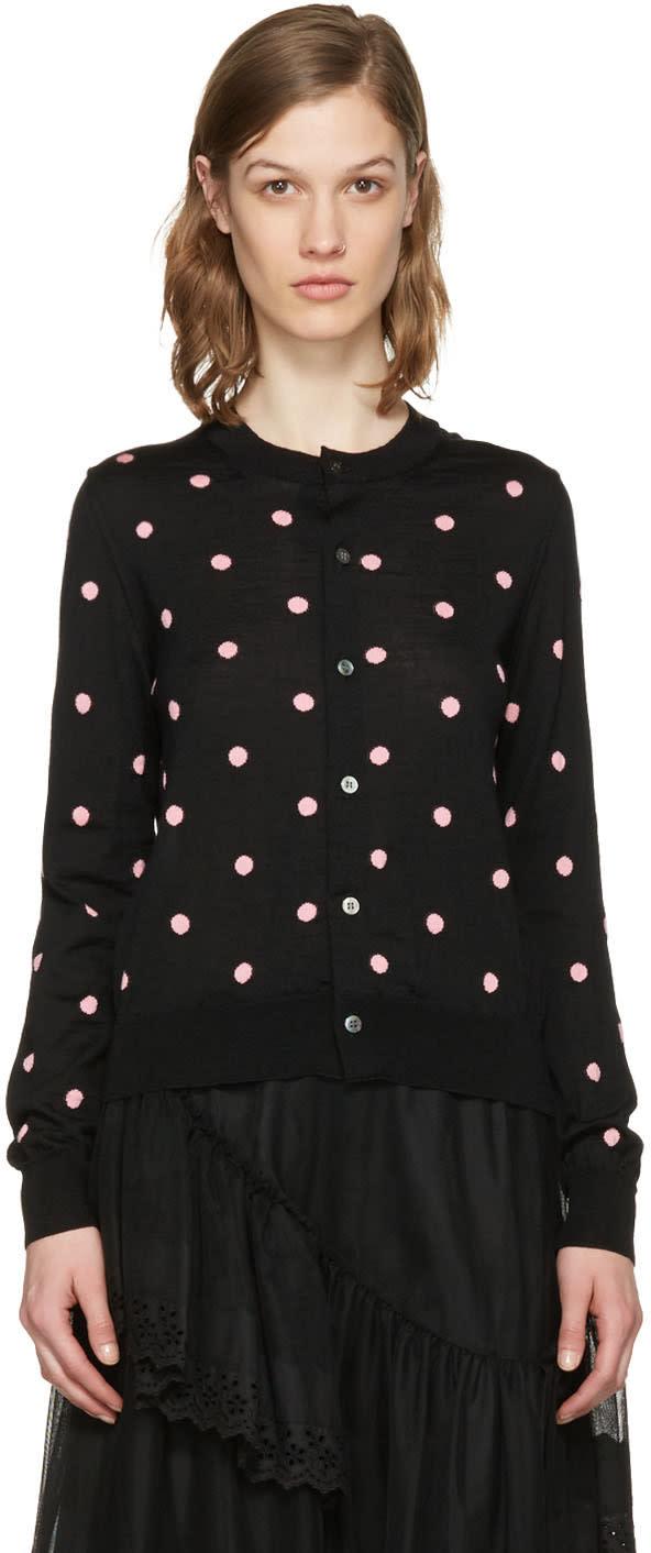 Image of Comme Des Garçons Girl Black Dot Cardigan