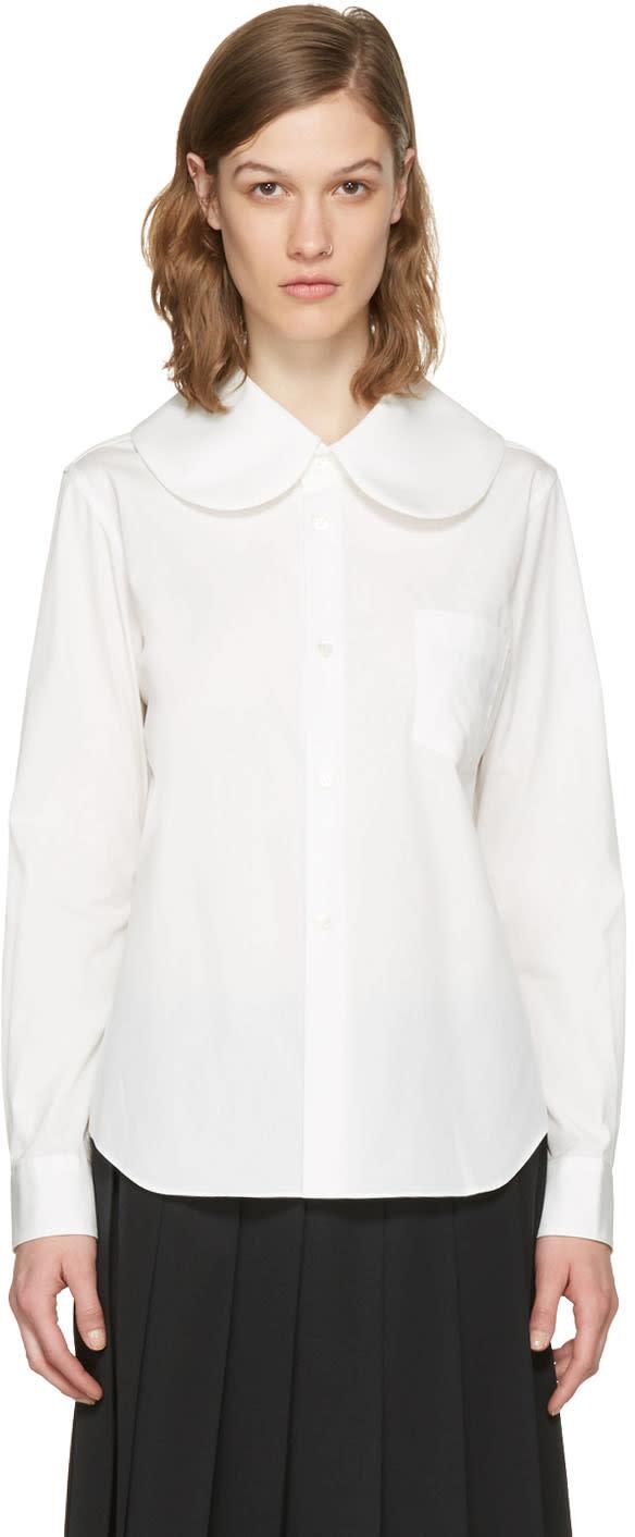 Comme Des Garcons Girl White Oversized Collar Shirt