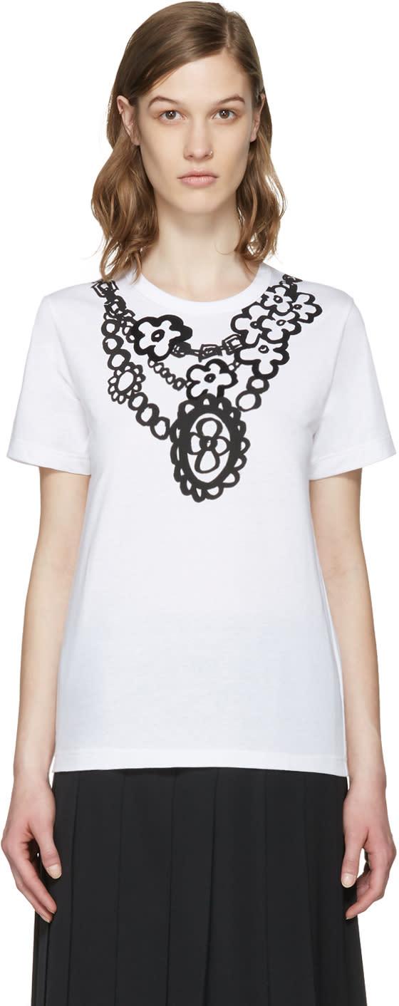 Comme Des Garcons Girl Black Flower Necklace T-shirt