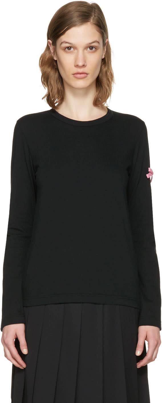 Comme Des Garcons Girl Black Bow T-shirt