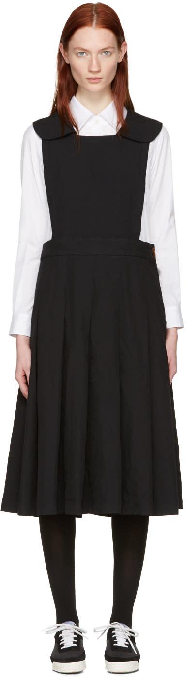 Image of Comme Des Garçons Comme Des Garçons Black Collared Pinafore Dress