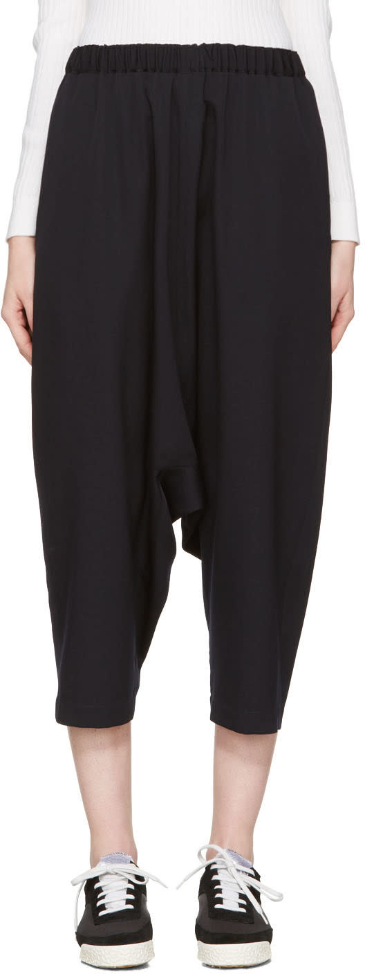 Comme Des Garcons Navy Dropped Trousers
