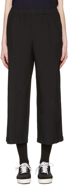 Image of Comme Des Garçons Comme Des Garçons Black Drawstring Trousers
