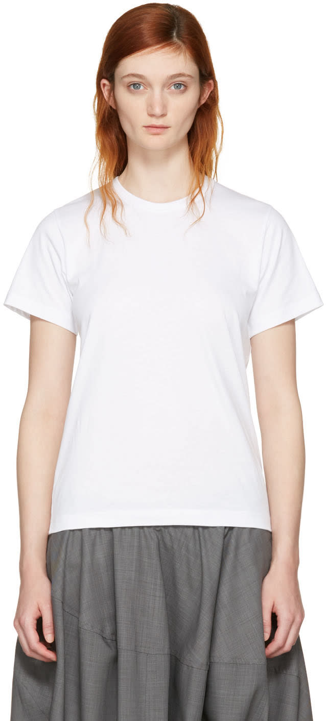 Comme Des Garcons White Cotton T-shirt