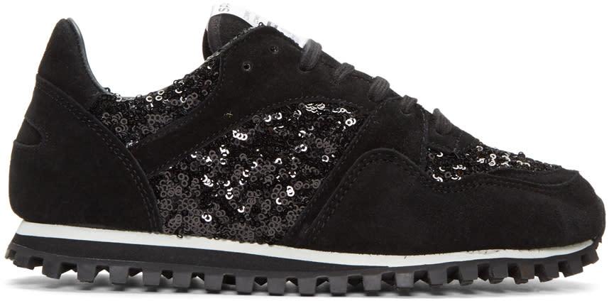 Image of Comme Des Garçons Comme Des Garçons Black Spalwart Edition Sequin Sneakers