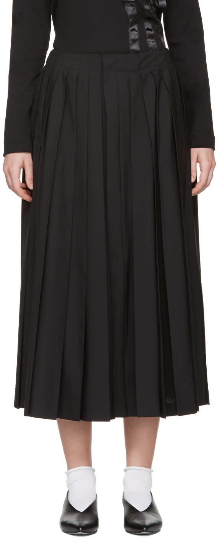Noir Kei Ninomiya Black Pleated Culottes