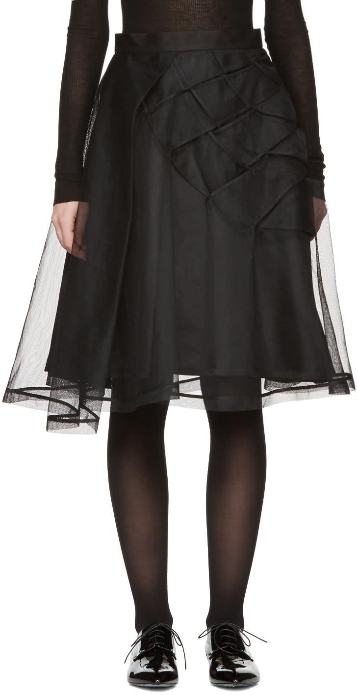Noir Kei Ninomiya Black Tulle Skirt