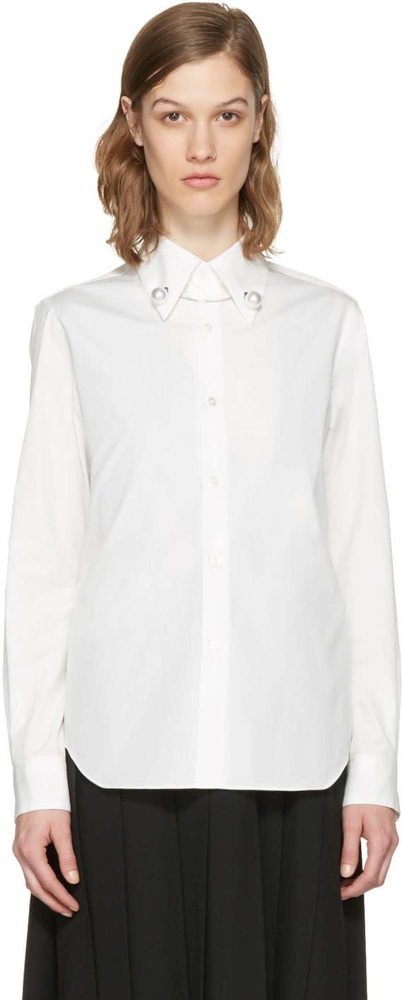 Noir Kei Ninomiya White Pearl Shirt