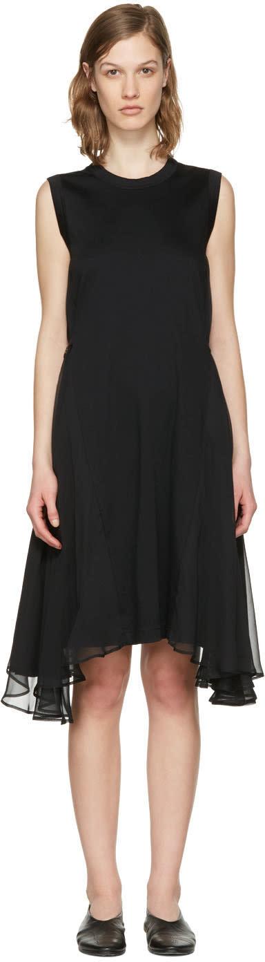 Noir Kei Ninomiya Black Chiffon Wings Dress