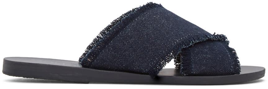 Ancient Greek Sandals Indigo Denim Thais Sandals