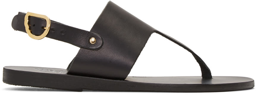Ancient Greek Sandals Black Armonia Sandals