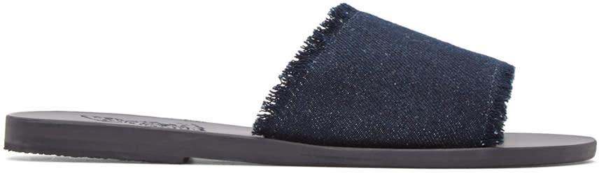 Ancient Greek Sandals Indigo Denim Taygete Sandals