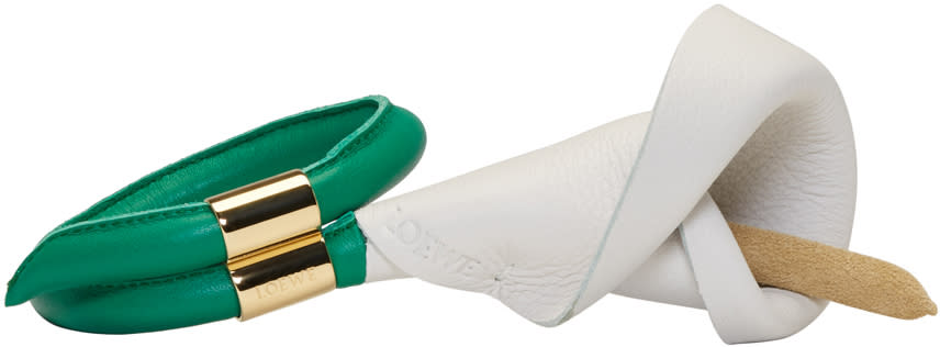 Loewe White and Green Calla Flower Bracelet