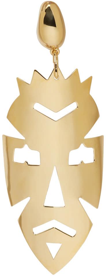 Loewe Gold Vintage Mask Earring