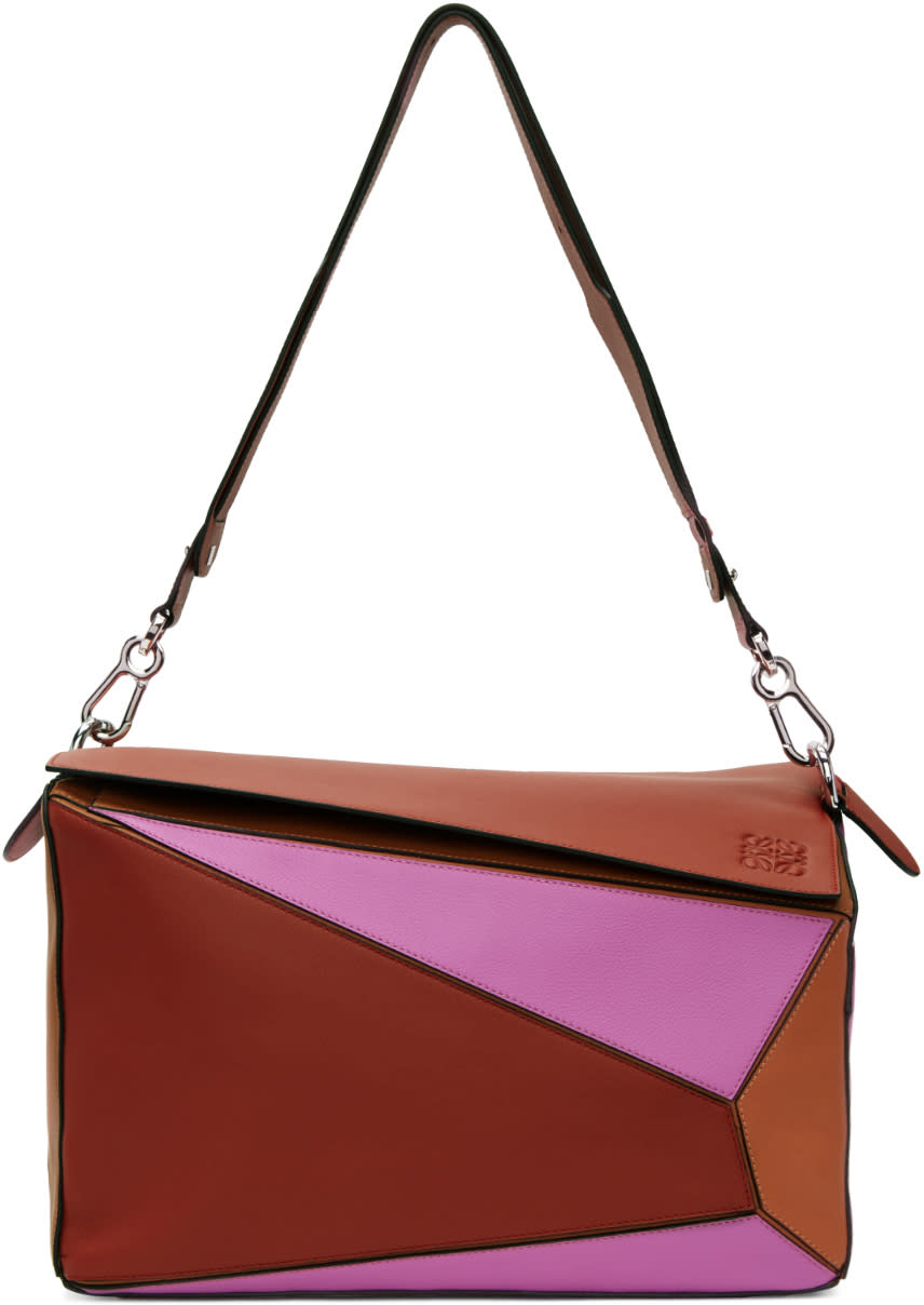 Loewe Tricolor Xl Puzzle Bag