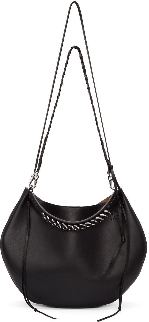 Loewe Black Fortune Hobo Bag at SSENSE