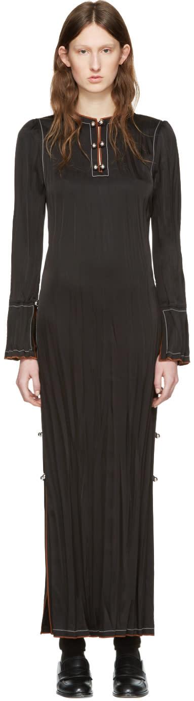 Loewe Black Crinkle Dress