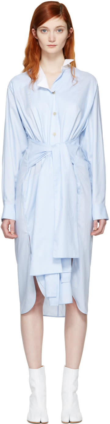 Loewe Blue Asymmetric Shirt Dress