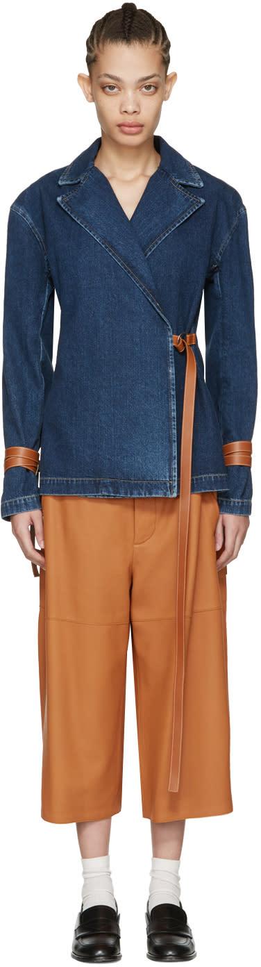 Loewe Indigo Denim Wrap Jacket